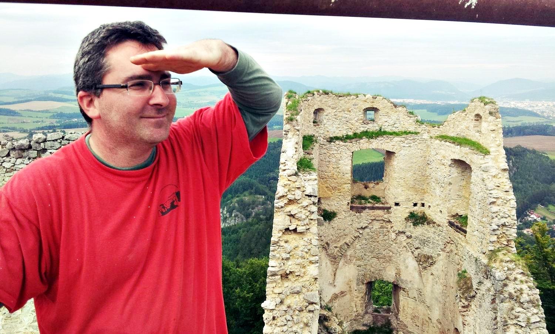 Ľubomír Chobot z Lietavského hradu